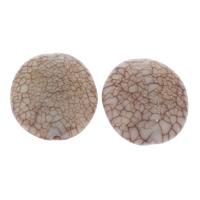 Eis-Flake-Acryl-Perlen, Acryl, flachoval, Eis Flocke & transluzent, Kaffeefarbe, 29x32x13mm, Bohrung:ca. 2mm, ca. 75PCs/Tasche, verkauft von Tasche