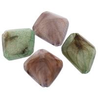 Eis-Flake-Acryl-Perlen, Acryl, Rhombus, Eis Flocke & transluzent, gemischte Farben, 20x23x10mm, Bohrung:ca. 1mm, ca. 800PCs/Tasche, verkauft von Tasche