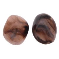 Eis-Flake-Acryl-Perlen, Acryl, Eis Flocke & transluzent, Kaffeefarbe, 20x26x13mm, Bohrung:ca. 2mm, ca. 125PCs/Tasche, verkauft von Tasche