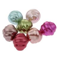 Imitation Acryl-Perlen, Acryl, oval, Nachahmung Perle, gemischte Farben, 16x18mm, Bohrung:ca. 1mm, ca. 230PCs/Tasche, verkauft von Tasche
