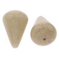 Eis-Flake-Acryl-Perlen, Acryl, Tropfen, Eis Flocke & transluzent, beige, 22x32mm, Bohrung:ca. 2mm, ca. 70PCs/Tasche, verkauft von Tasche