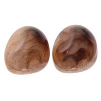 Eis-Flake-Acryl-Perlen, Acryl, Eis Flocke & transluzent, Kaffeefarbe, 16x18x3mm, Bohrung:ca. 1mm, ca. 200PCs/Tasche, verkauft von Tasche