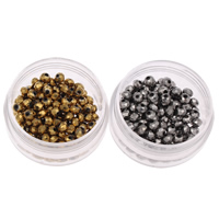 Rondell Kristallperlen, Kristall, plattiert, facettierte, mehrere Farben vorhanden, 4x3mm, Bohrung:ca. 1mm, 150PCs/Tasche, verkauft von Tasche