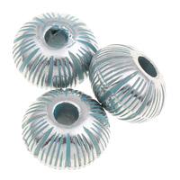 Verkupfertes Kunststoff-Perlen, Verkupferter Kunststoff, Trommel, Bläu, 13x8mm, Bohrung:ca. 2mm, 1000PCs/Tasche, verkauft von Tasche