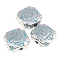 Verkupfertes Kunststoff-Perlen, Verkupferter Kunststoff, Kreuz, Bläu, 10x10x5mm, Bohrung:ca. 1mm, 1000PCs/Tasche, verkauft von Tasche