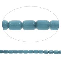 Blauer Achat Perle, Zylinder, verschiedene Größen vorhanden, Bohrung:ca. 1.5mm, verkauft per ca. 15 ZollInch Strang