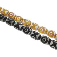 Tibetan Achat Perle, Zylinder, keine, 13x18mm, Bohrung:ca. 1.5mm, ca. 22PCs/Strang, verkauft per ca. 14.5 ZollInch Strang