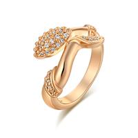 Gets® Finger Ring, Messing, vergoldet, verschiedene Größen vorhanden & mit kubischem Zirkonia, frei von Nickel, Blei & Kadmium, 18mm, verkauft von PC