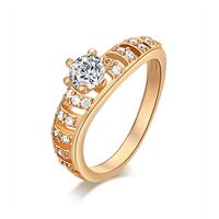 Gets® Finger Ring, Messing, vergoldet, verschiedene Größen vorhanden & mit kubischem Zirkonia & facettierte, frei von Nickel, Blei & Kadmium, 3mm, verkauft von PC
