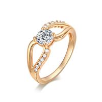 Gets® Finger Ring, Messing, vergoldet, verschiedene Größen vorhanden & mit kubischem Zirkonia & facettierte, frei von Nickel, Blei & Kadmium, 5mm, verkauft von PC