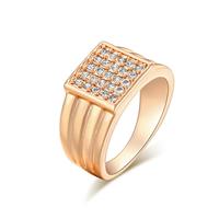 Gets® Finger Ring, Messing, Quadrat, vergoldet, verschiedene Größen vorhanden & mit kubischem Zirkonia, frei von Nickel, Blei & Kadmium, 10mm, verkauft von PC