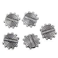 Zinklegierung flache Perlen, flache Runde, antik silberfarben plattiert, frei von Blei & Kadmium, 8x2.5mm, Bohrung:ca. 0.8mm, 100G/Tasche, verkauft von Tasche