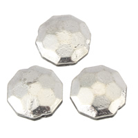Zinklegierung flache Perlen, flache Runde, antik silberfarben plattiert, frei von Blei & Kadmium, 12x4.5mm, Bohrung:ca. 1mm, 100G/Tasche, verkauft von Tasche