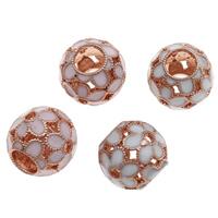 Zink Legierung Europa Perlen, Zinklegierung, Trommel, Rósegold-Farbe plattiert, ohne troll & Emaille, keine, frei von Blei & Kadmium, 12x13mm, Bohrung:ca. 5mm, verkauft von PC