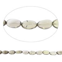 Natürliche Rauchquarz Perlen, flachoval, Grad AAA, 18x30mm-20x32mm, Bohrung:ca. 2mm, ca. 13PCs/Strang, verkauft per ca. 15 ZollInch Strang