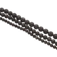 Schneeflocke Obsidian, rund, verschiedene Größen vorhanden, Bohrung:ca. 1mm, Länge:ca. 15 ZollInch, verkauft von Tasche