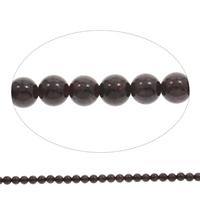 Natürlicher Granat Perlen, rund, Januar Birthstone, 5mm, Bohrung:ca. 1mm, Länge:ca. 15 ZollInch, 5SträngeStrang/Tasche, ca. 78PCs/Strang, verkauft von Tasche