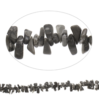 Edelstein-Span, Picasso Jaspis, Klumpen, 7x12mm-11x22mm, Bohrung:ca. 0.8mm, Länge:ca. 15 ZollInch, 5SträngeStrang/Tasche, ca. 105PCs/Strang, verkauft von Tasche