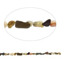 Edelstein-Span, Bambus Achat, Klumpen, 5x8mm-15x20mm, Bohrung:ca. 0.8mm, Länge:ca. 15 ZollInch, 5SträngeStrang/Tasche, ca. 35PCs/Strang, verkauft von Tasche