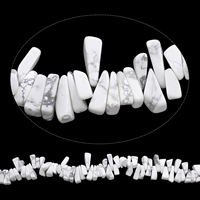 Edelstein-Span, Synthetische Türkis, Klumpen, weiß, 7x13mm-8x20mm, Bohrung:ca. 0.8mm, Länge:ca. 15 ZollInch, 5SträngeStrang/Tasche, ca. 105PCs/Strang, verkauft von Tasche