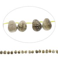 Bild Jaspis Perle, Tropfen, 8x10mm, Bohrung:ca. 1mm, ca. 38PCs/Strang, verkauft per ca. 15.5 ZollInch Strang