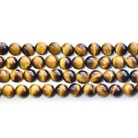 Tigerauge Perlen, rund, natürlich, verschiedene Größen vorhanden, Grade AAAAA, Bohrung:ca. 0.8-1.5mm, verkauft per 15 ZollInch Strang