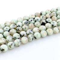 Lotus Jaspis Perlen, Lotos Jaspis, rund, natürlich, verschiedene Größen vorhanden, Bohrung:ca. 1mm, Länge:ca. 15 ZollInch, verkauft von Menge