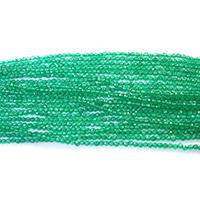 Natürliche grüne Achat Perlen, Grüner Achat, rund, verschiedene Größen vorhanden & facettierte, Bohrung:ca. 0.5mm, Länge:ca. 16 ZollInch, verkauft von Menge