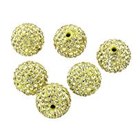 Tschechische Strass Perlen, Lehm pflastern, rund, mit 150 Stück Strass & mit tschechischem Strass, 14mm, Bohrung:ca. 2mm, 10PCs/Tasche, verkauft von Tasche