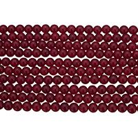 Marmor Naturperlen, natürliche Marmor, rund, verschiedene Größen vorhanden, rot, Bohrung:ca. 0.8-1.4mm, Länge:ca. 15.5 ZollInch, verkauft von Menge