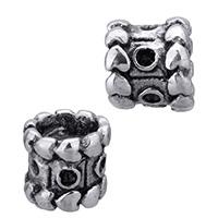 Edelstahl Perlen Einstellung, Zylinder, ohne troll & Schwärzen, 9x8mm, Bohrung:ca. 4mm, Innendurchmesser:ca. 1.5mm, 5PCs/Menge, verkauft von Menge