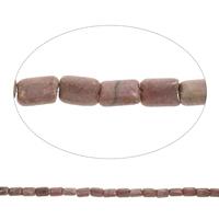 Rhodonit Perlen, Rechteck, 8x13x5mm, Bohrung:ca. 1.5mm, Länge:ca. 15.5 ZollInch, 5SträngeStrang/Tasche, ca. 33PCs/Strang, verkauft von Tasche