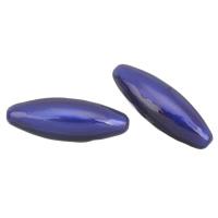 Verkupfertes Kunststoff-Perlen, Verkupferter Kunststoff, oval, Emaille, 65x23mm, Bohrung:ca. 2mm, verkauft von PC