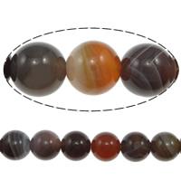 Natürliche Botswana Achat Perlen, rund, verschiedene Größen vorhanden, Grad AAA, Bohrung:ca. 1-2mm, verkauft per ca. 15.5 ZollInch Strang