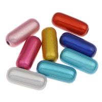 Traumhafte Acrylperlen, Acryl, Zylinder, gemischte Farben, 7x17mm, Bohrung:ca. 1mm, ca. 850PCs/Tasche, verkauft von Tasche