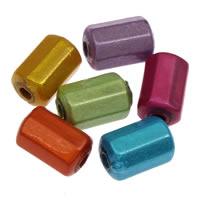 Traumhafte Acrylperlen, Acryl, Zylinder, gemischte Farben, 5x8mm, Bohrung:ca. 1mm, ca. 3000PCs/Tasche, verkauft von Tasche