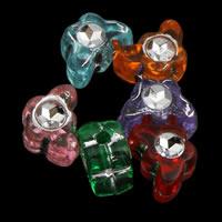 Silberdruck Acrylperlen, Acryl, Schmetterling, transparent, gemischte Farben, 8x5x4mm, Bohrung:ca. 1mm, ca. 8466PCs/Tasche, verkauft von Tasche