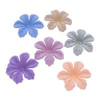 Acryl Perlkappen, Blume, gummierte, keine, 36x10mm, Bohrung:ca. 1mm, ca. 200PCs/Tasche, verkauft von Tasche