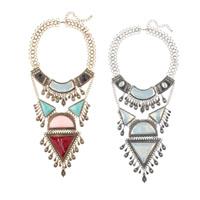 Mode Statement Halskette, Zinklegierung, mit Kristall & Harz, mit Verlängerungskettchen von 2.7lnch, plattiert, mit Strass, keine, 120mm, verkauft per ca. 18.8 ZollInch Strang
