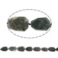 Natürliche Moos Achat Perlen, facettierte, 38x28x7mm-41x31x9mm, ca. 10PCs/Strang, verkauft per ca. 15.5 ZollInch Strang