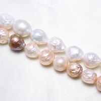 Barock kultivierten Süßwassersee Perlen, Natürliche kultivierte Süßwasserperlen, natürlich, keine, 12-14mm, Bohrung:ca. 0.8mm, Länge:ca. 15.5 ZollInch, ca. 13SträngeStrang/kg, verkauft von kg
