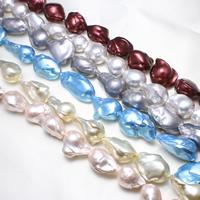 Kultivierte kernhaltige Süßwasserperlen, kultivierte Süßwasser kernhaltige Perlen, Biwa, keine, 13-15mm, Bohrung:ca. 0.8mm, Länge:ca. 15.5 ZollInch, ca. 10SträngeStrang/kg, verkauft von kg