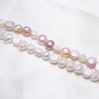 Barock kultivierten Süßwassersee Perlen, Natürliche kultivierte Süßwasserperlen, natürlich, keine, 7-8mm, Bohrung:ca. 0.8mm, verkauft per ca. 15.5 ZollInch Strang