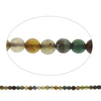 Natürliche Crackle Achat Perlen, Geknister Achat, rund, facettierte, gemischte Farben, 8mm, Bohrung:ca. 1mm, Länge:ca. 14.5 ZollInch, 10SträngeStrang/Tasche, ca. 47PCs/Strang, verkauft von Tasche