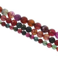 Natürliche Crackle Achat Perlen, Geknister Achat, rund, verschiedene Größen vorhanden & facettierte, gemischte Farben, Bohrung:ca. 1mm, Länge:ca. 14.5 ZollInch, 10SträngeStrang/Tasche, verkauft von Tasche