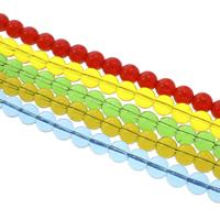 Runde Kristallperlen, Kristall, verschiedene Größen vorhanden, mehrere Farben vorhanden, Bohrung:ca. 1mm, verkauft per ca. 14.5 ZollInch Strang