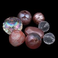 Gemischte Acrylperlen, Acryl, weinrot, 8mm-20x25x8mm, Bohrung:ca. 1-2mm, ca. 1000PCs/Tasche, verkauft von Tasche