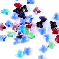 KRISTALLanhänger, Kristall, Schmetterling, facettierte, gemischte Farben, 14mm, Bohrung:ca. 1mm, 50PCs/Tasche, verkauft von Tasche