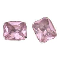 Kristall-Perlen, Messing, mit Kristall, Platinfarbe platiniert, facettierte, frei von Nickel, Blei & Kadmium, 11x13x7mm, Bohrung:ca. 4x0.5mm, 10PCs/Tasche, verkauft von Tasche