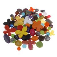 Gemischte Acrylperlen, Acryl, 6mm-43x47x6mm, Bohrung:ca. 1-5mm, ca. 200PCs/Tasche, verkauft von Tasche